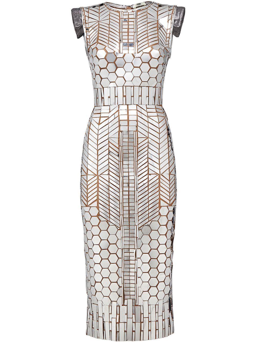 Fendi Fendi Prints On Mirror Patch Dress Metallic Dress Fendi Metallic Mirrorpatch Prints Patch Dress Tube Dress Designer Cocktail Dress [ 1334 x 1000 Pixel ]