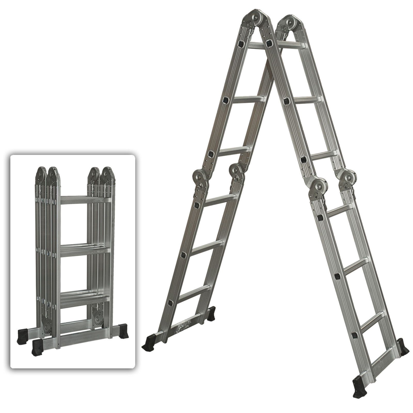 Multi Purpose Aluminum Ladder Folding Step Ladder Extendable Heavy Duty Aluminium Ladder Folding Ladder Step Ladders