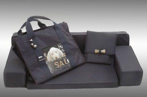 Sofa cordura cm. 100X60X17 + complete shopping bag + book