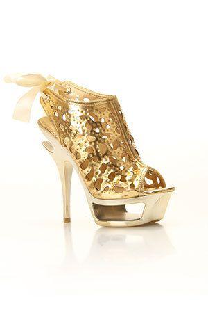 golden fire  heels cinderella shoes unique heels