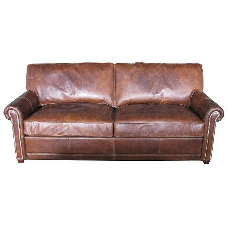 Fabulous Vintage Cigar 2 Seater Artsome Leather Sofa 84 L
