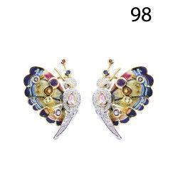 LOTE : 98 - Pendientes diseño mariposa …