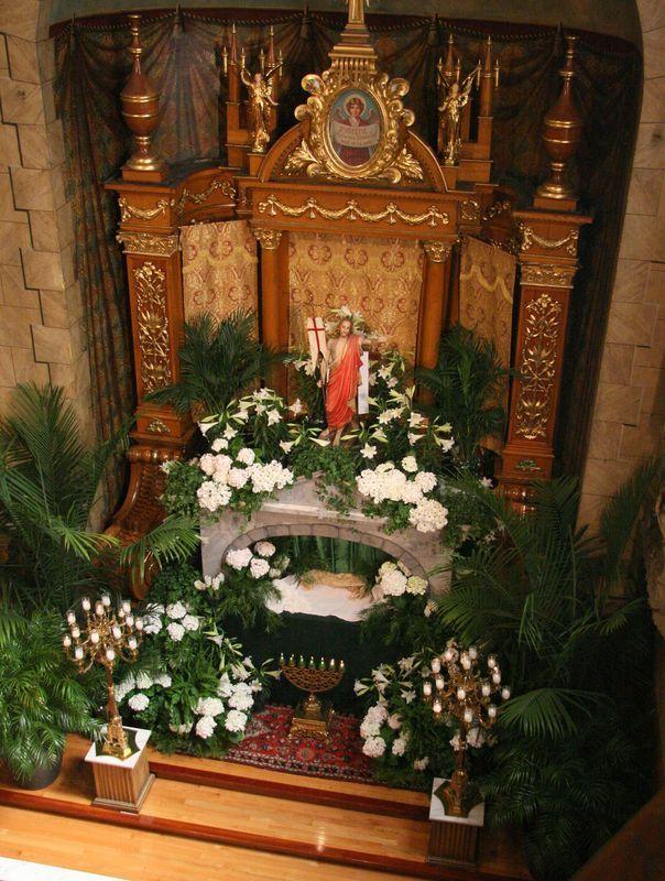 St. John Cantius Church Altar on Easter Sunday