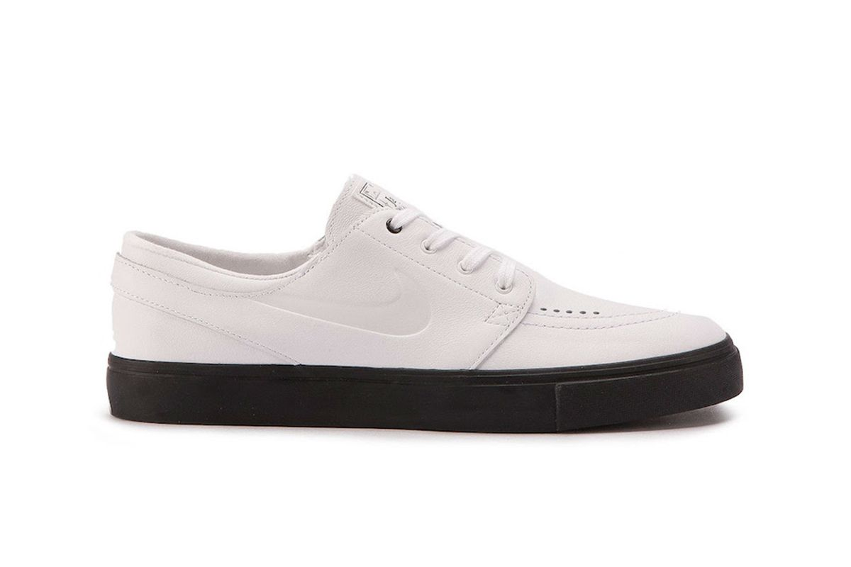 bf49bed339c The New Nike SB Stefan Janoski Opts for a Luxe White Leather Upper ...