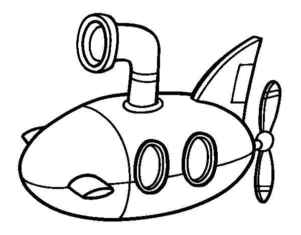 Submarine Coloring Page - Coloringcrew.com