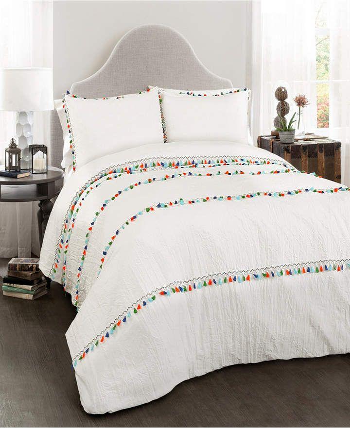Lush Decor Boho Tassel 3 Pc Full Queen Comforter Set Bedding King Comforter Sets Comforter Sets Queen Comforter Sets