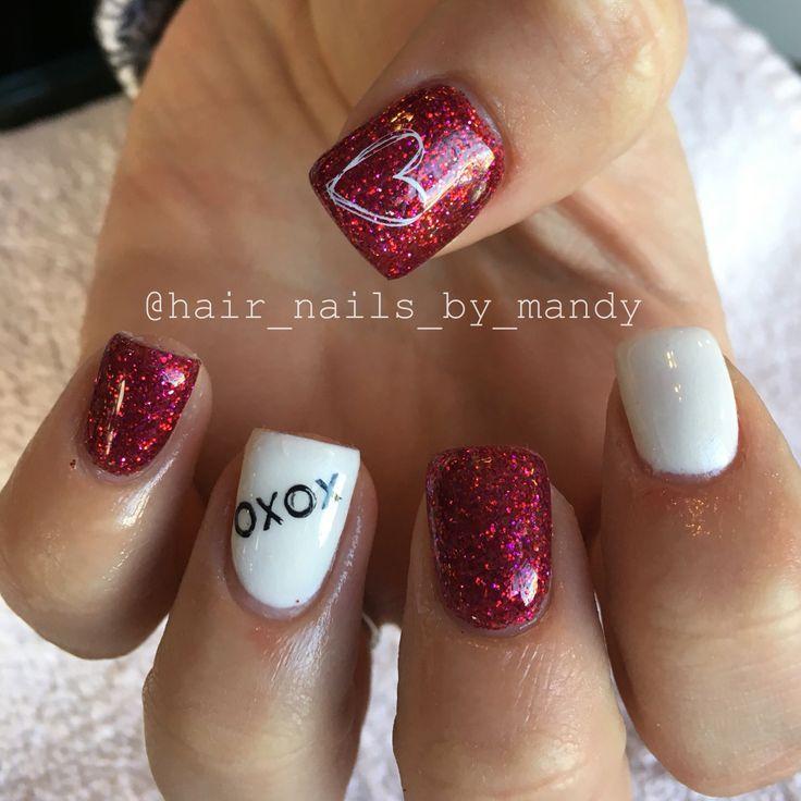 Cute Valentines Nails Valentines Day Pinterest Mani Pedi