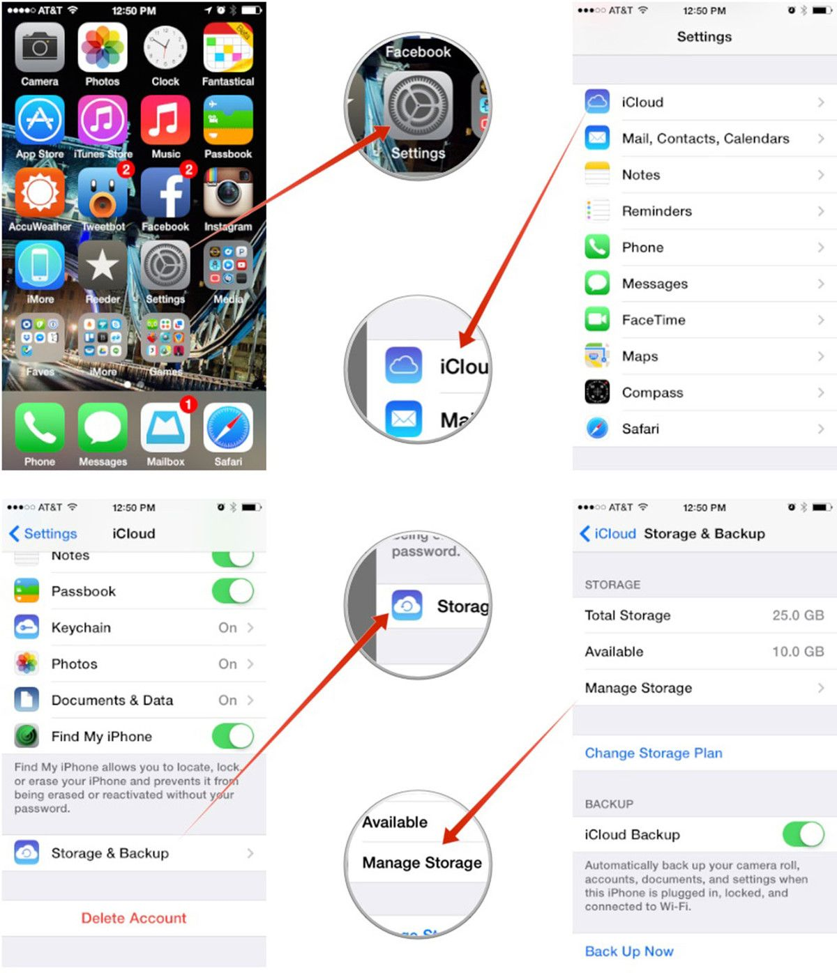 How To Manage Your Icloud Storage On Iphone Or Ipad Iphone Info Iphone Storage Iphone Hacks