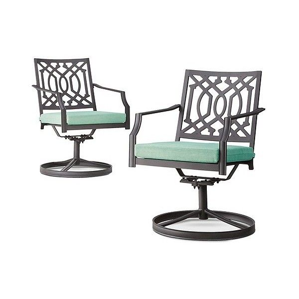 Patio Dining Chair: Harper 2 Piece Metal Patio Motion Club Chair Set:.