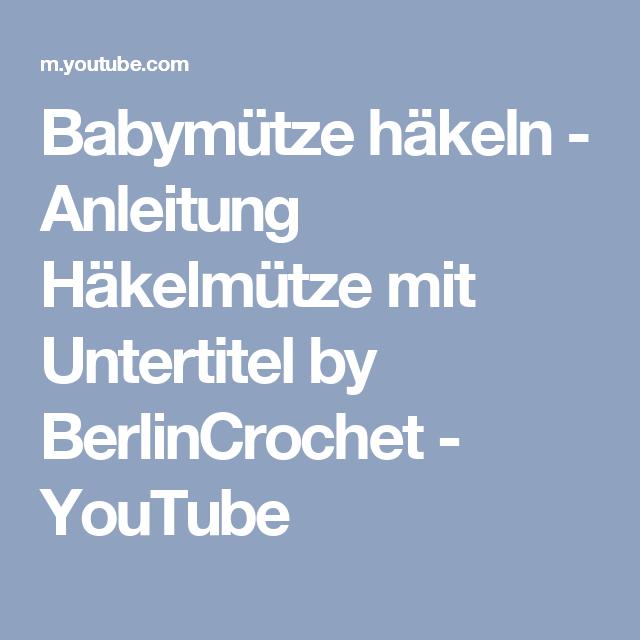 Babymütze Häkeln Anleitung Häkelmütze Mit Untertitel By