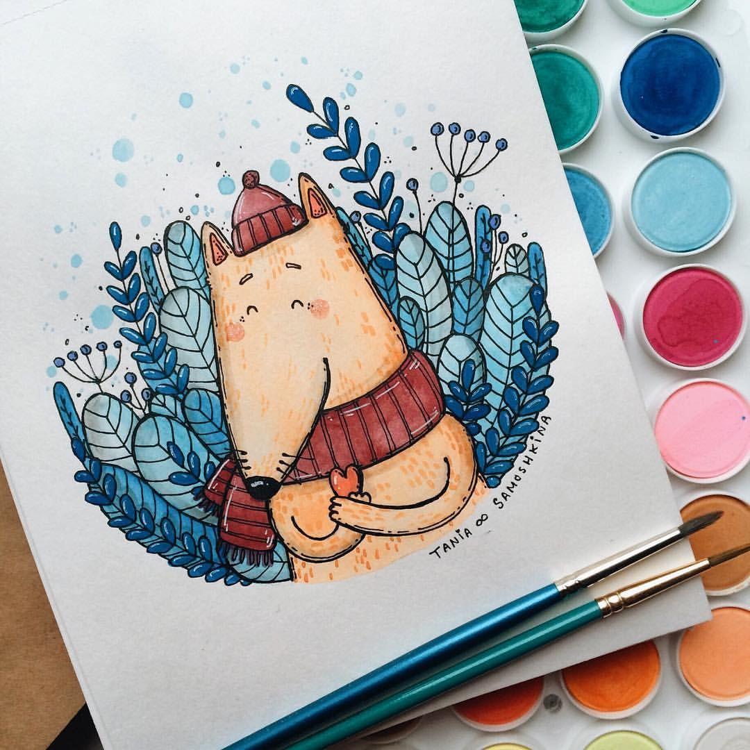 Красивая открытка фломастерами, новогодней открытки