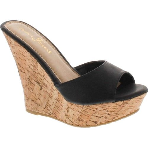 Popular Wedge Sandal,Black