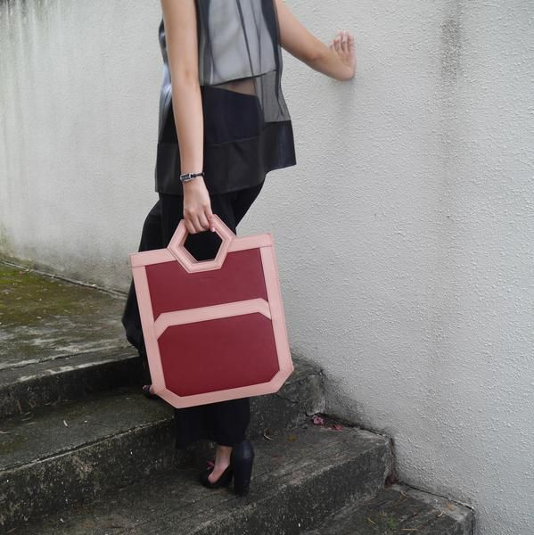 AVA Tote in Mars Red   THE HEXAD