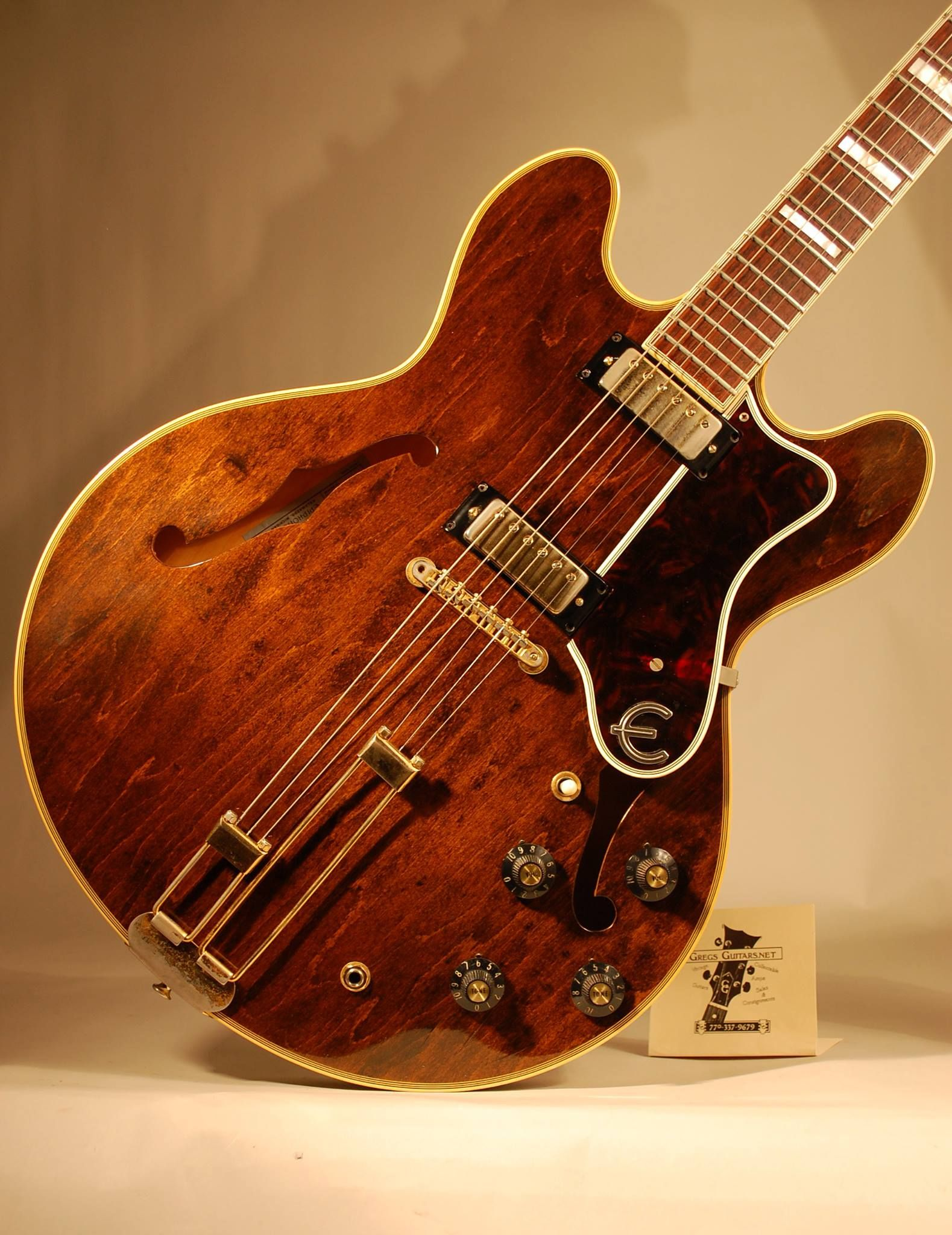 1966 Epiphone Sheraton Great Guitar But Im Not Crazy About The