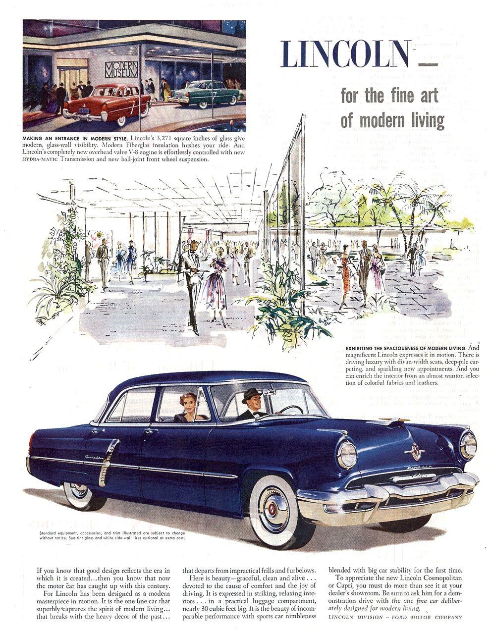 1952 Lincoln Cosmopolitan Four-Door Sedan   cars retro   Pinterest