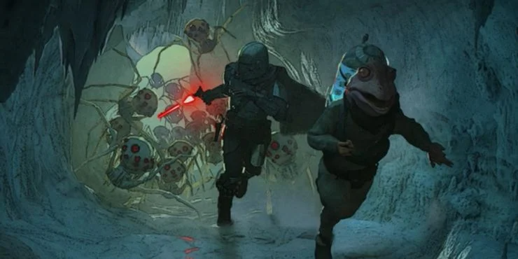 The Mandalorian introduced giant ice spiders and a new mood for Baby Yoda.  Here's every piece of concept art revealed in the credit… | Concept art,  Mandalorian, Art