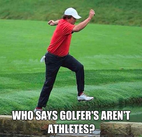 Meme Of The Day Golfers Are Athletes Lol Golf Quotes Golf Humor Funny Golf Meme