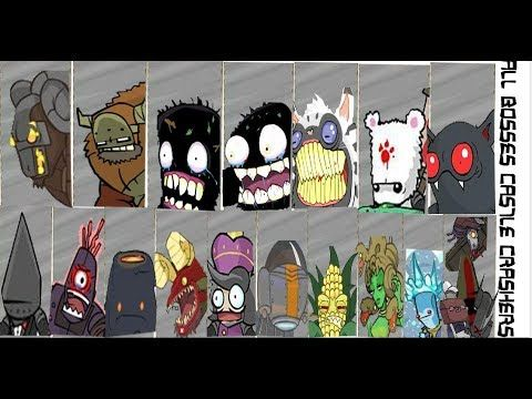 Castle Crashers All Bosses Youtube Castle Crashers Castle Boss
