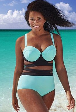 ce922250f26 GabiFresh for Swim Sexy - GabiFresh The Electress Pool Blue D/DD Underwire  Bikini