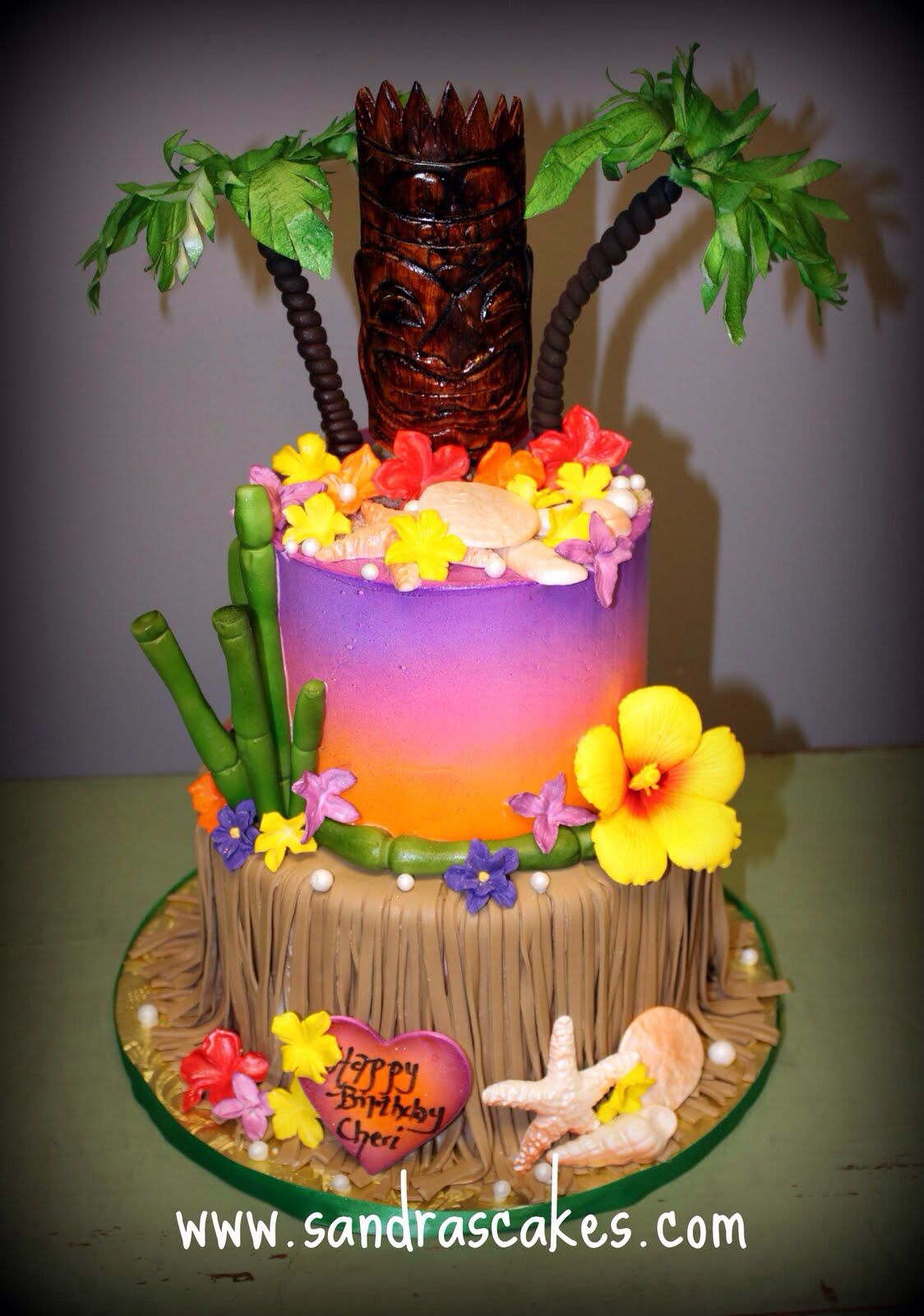 Fantastic Hawaiian Birthday Cake Luau Birthday Cakes Luau Cakes Hawaiian Funny Birthday Cards Online Elaedamsfinfo