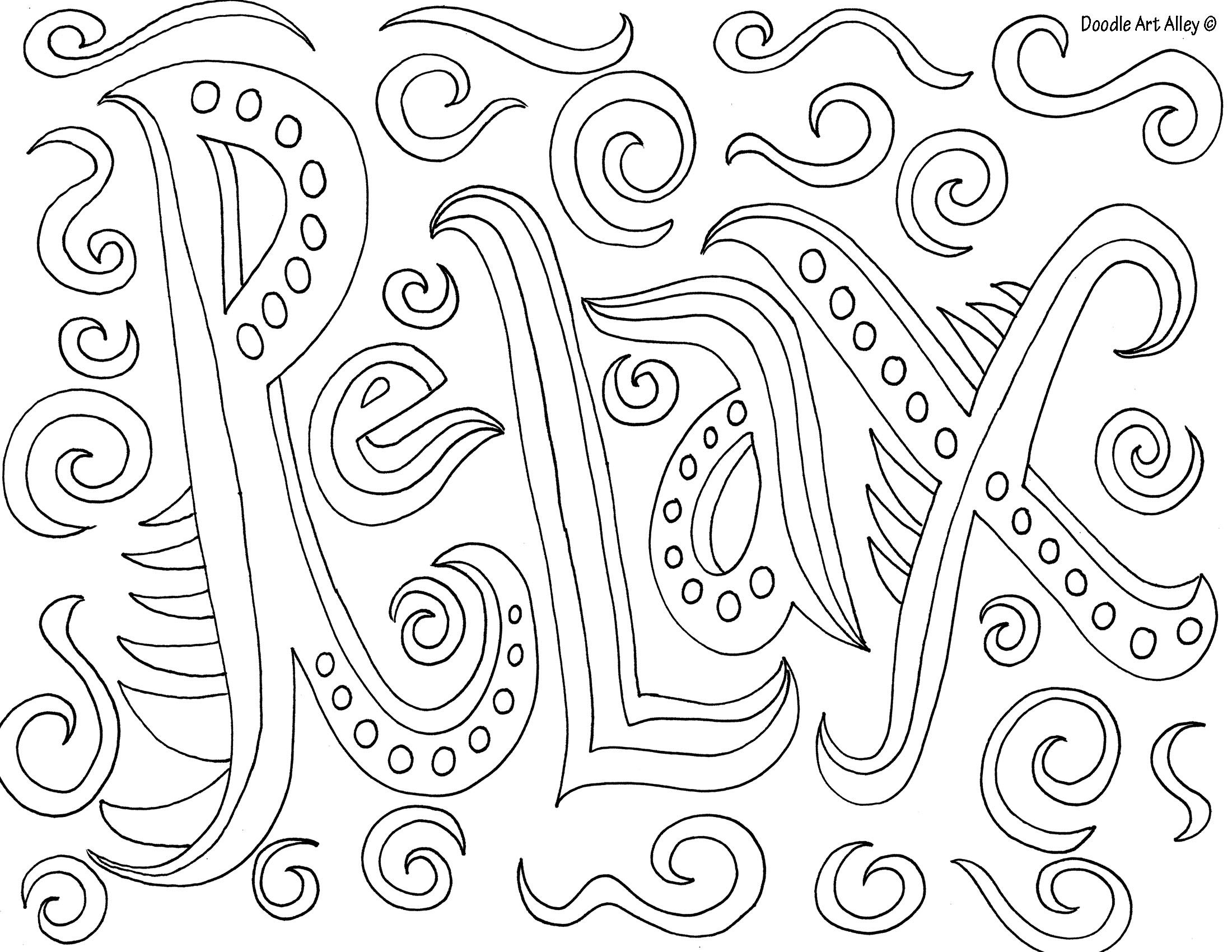 Mindfulness coloring pages printable coloring pages for Free mindfulness coloring pages