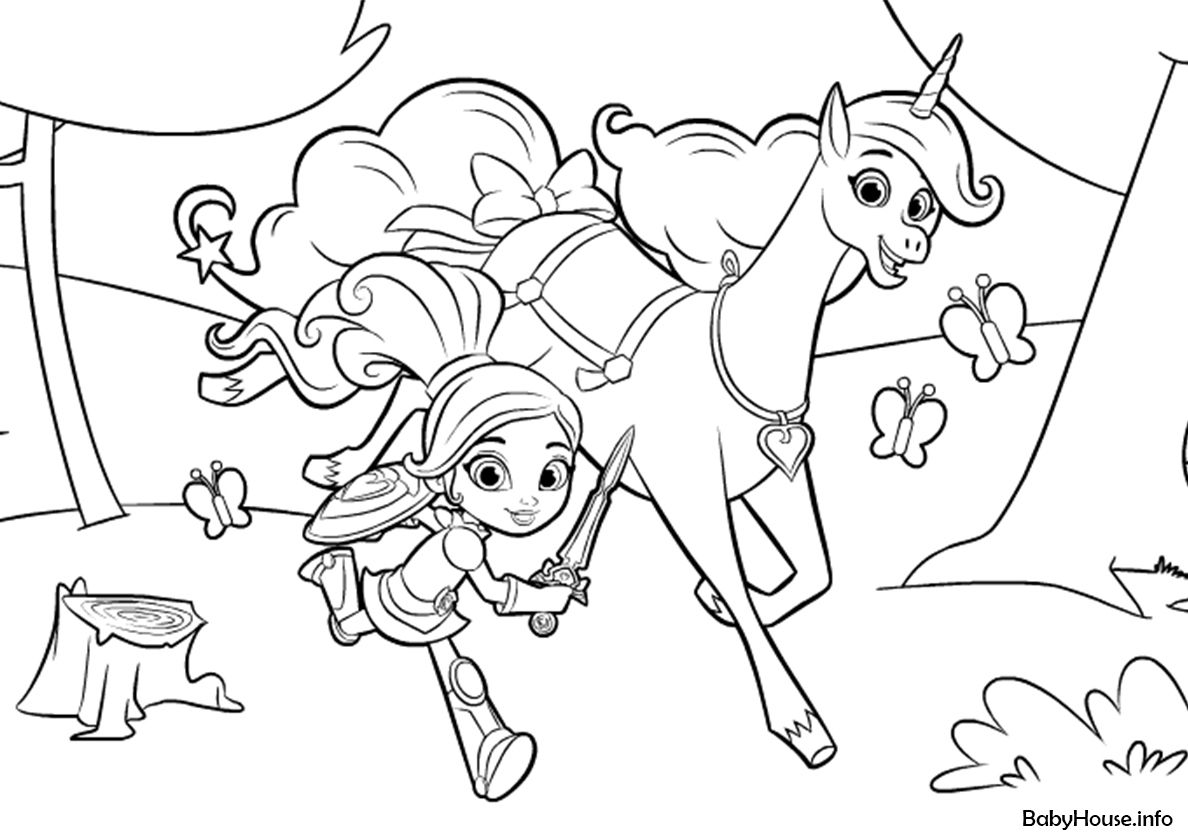 Nella And Trinket On The Way High Quality Free Coloring From The Category Nella The Princess Knigh Cartoon Coloring Pages Coloring Pages Free Coloring Pages