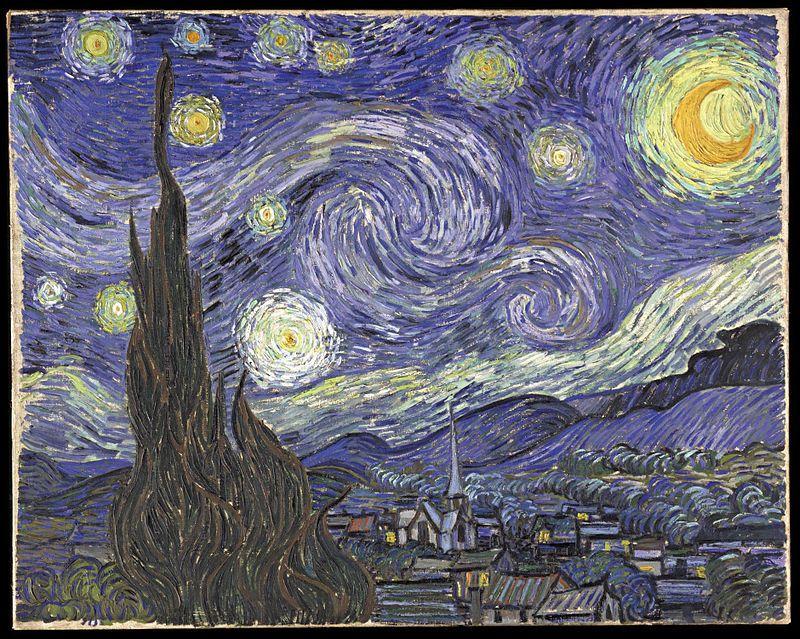 The Starry Night Vinsent Van Gog Kartiny Kraska