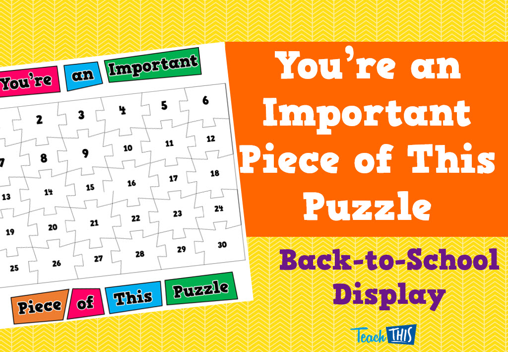 You're an important piece of this puzzle