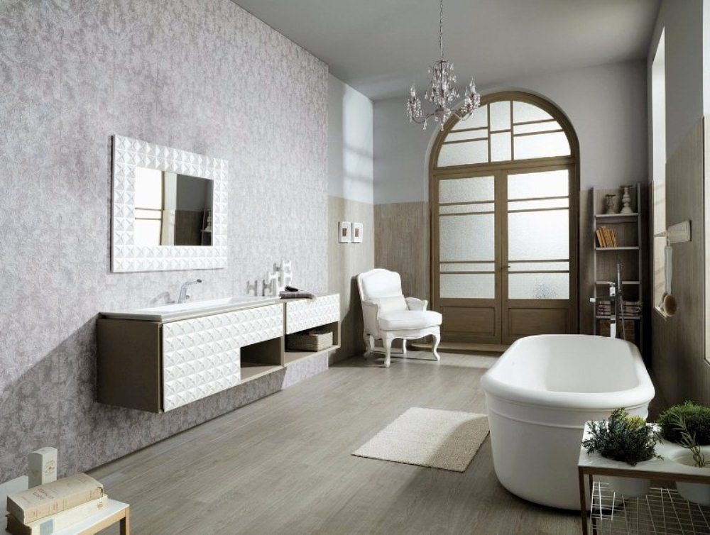 Venis 39 florencia natural 39 elegant dimensional feature tile for Porcelanosa salle de bain