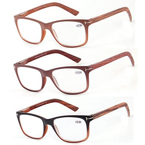 f22be34fead Reading Glasses 3 Pack Great Value Quality Readers Fashion Wood-Look Men  and Women Unisex Glasses for Reading 1