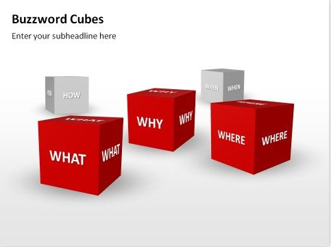 PowerPoint Buzzword Cubes templates in red #powerpoint #business - business presentation