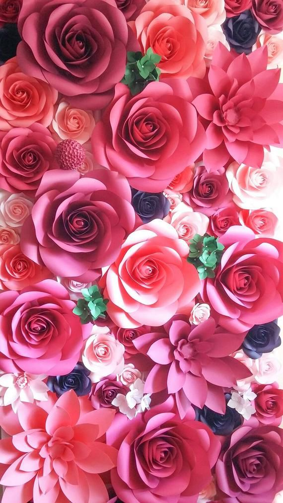 Giant Paper Flower Wall - Large Paper Flowers - Paper Flower Backdrop - Paper Flower Wall