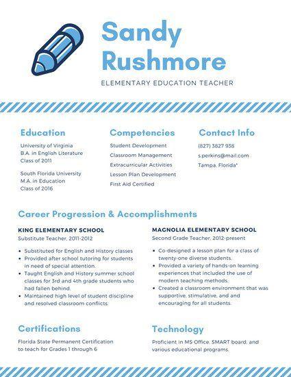 Blue Icon Academic Resume Resume Ideas Pinterest - academic resume