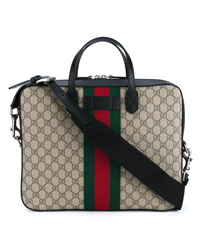 3aaac5b8bc61c2 GUCCI Web Gg Supreme Laptop Bag. #gucci #bags #shoulder bags #hand bags  #canvas #leather #cotton #
