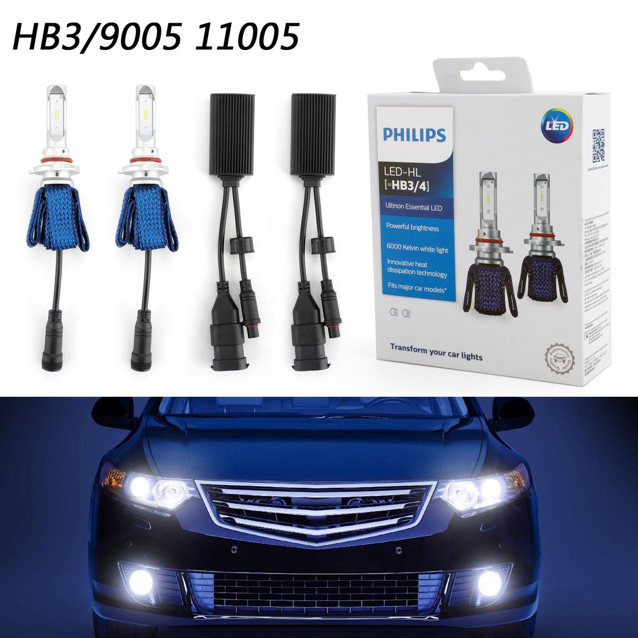 Philips Ultinon Led Kit 6000k White Hb3 4 Two Bulbs Head Light Dual Beam Replace Led Kit Bulb Led