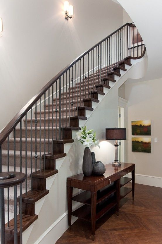 Classic Staircase In Vancouver Townhome #blurrdMEDIA