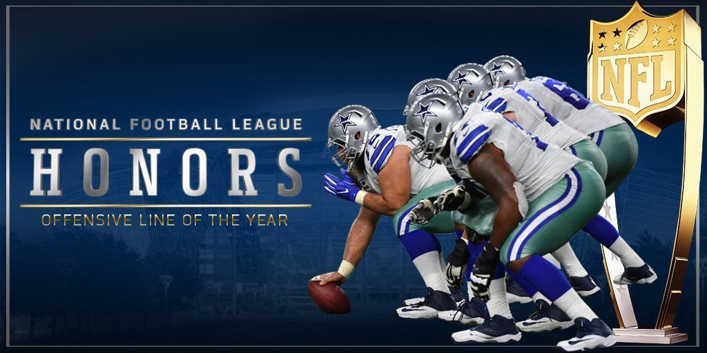 Congrats to our DallasCowboys Oline for being NFL Honors