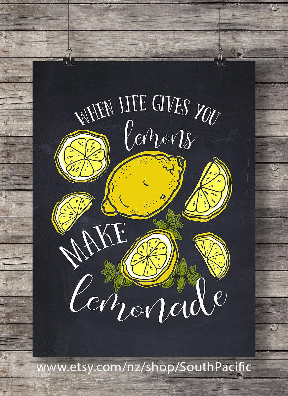 When life gives you lemons   Chalkboard Hand lettered   Lemonade jug ...