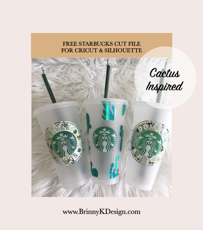 Free Cactus Svg For Starbucks Cups Works With Silhouette And Cricut In 2020 Cactus Inspired Cricut Etsy Coach