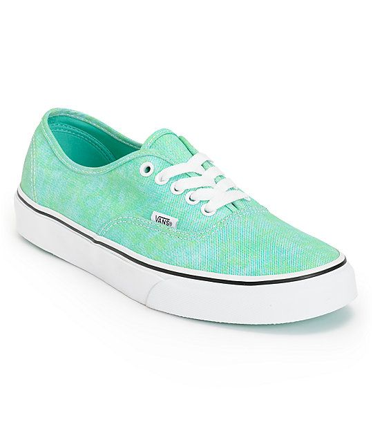 c8253b3fbe The Vans Girls Authentic Sparkle mint shoes are a great low-profile shoe  with sparkly details.