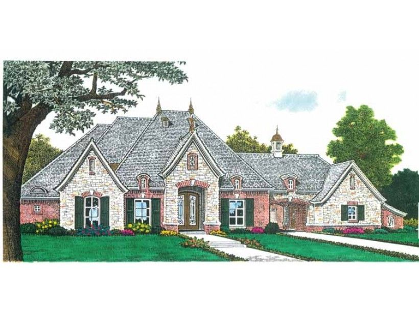 European House Plan with 2957 Square Feet and 3 Bedrooms from Dream Home Source | House Plan Code DHSW68929