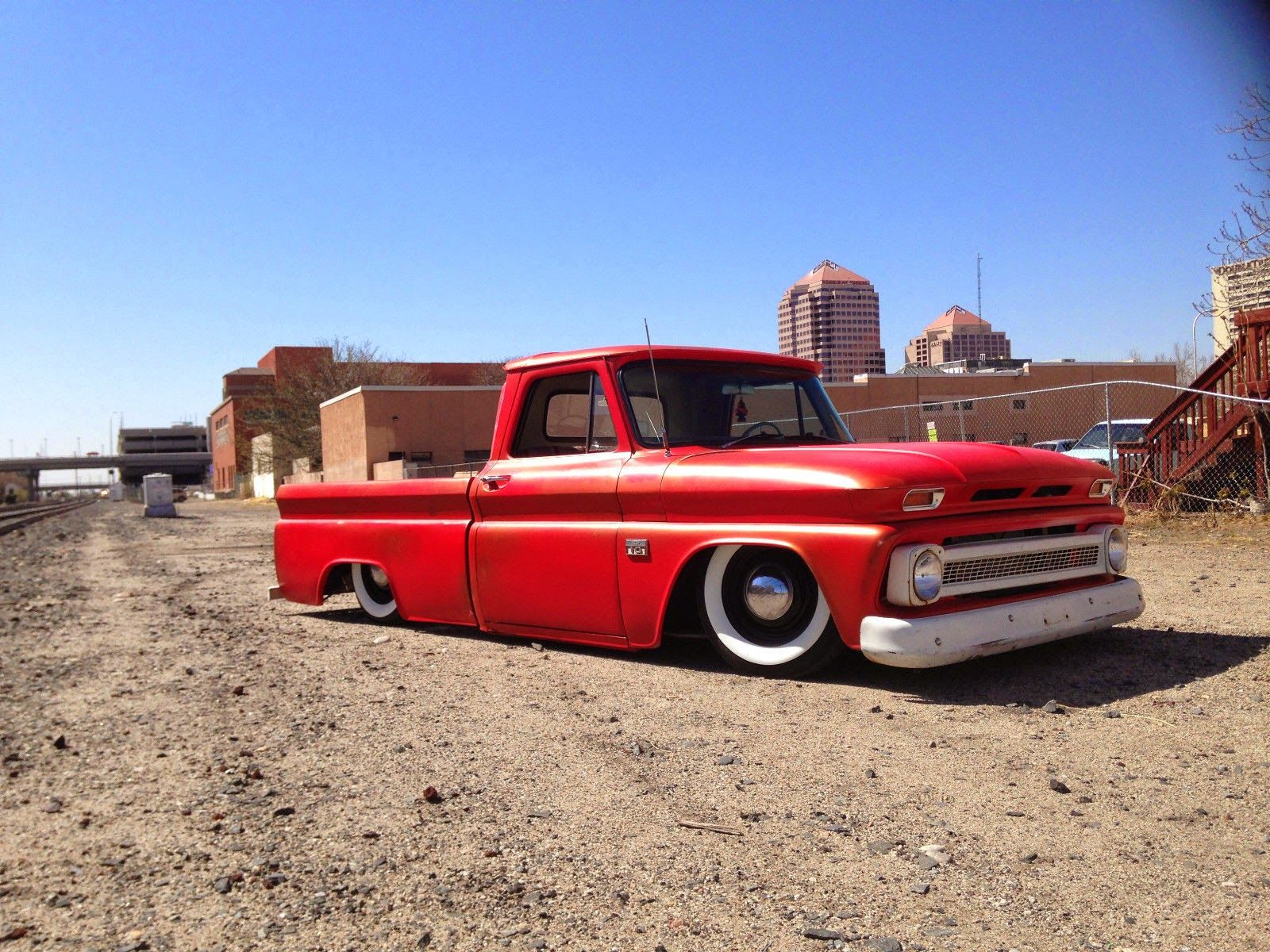 small resolution of 1966 chevy c10 custom bagged air ride patina