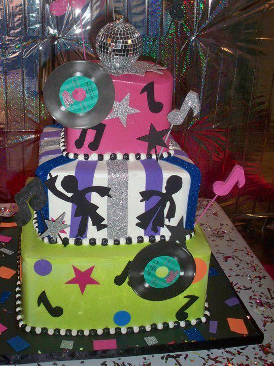 Disco cake pasteles a os 60 pinterest tartas - Ideas para discotecas ...