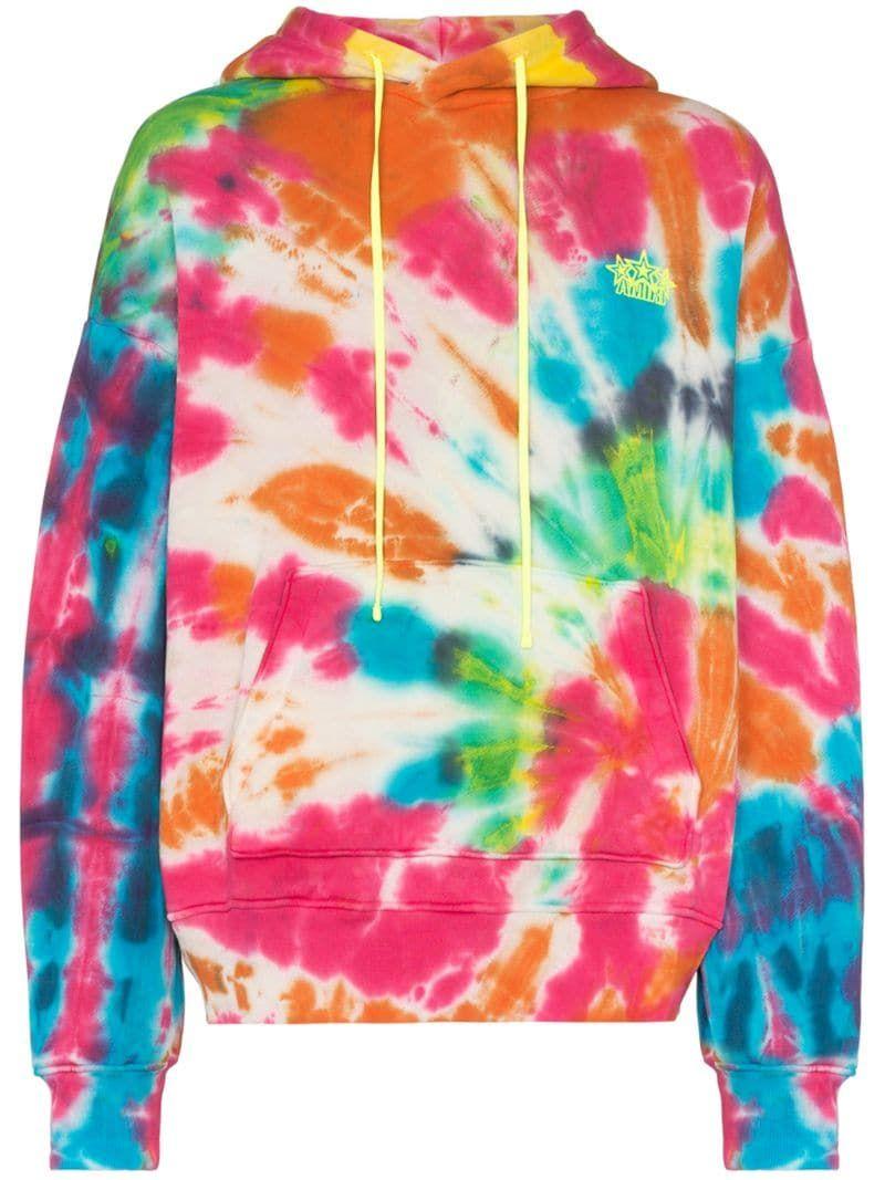 Amiri Star Oversized Hoodie Farfetch Tie Dye Cotton Jumper Tie Dye Print [ 1067 x 800 Pixel ]