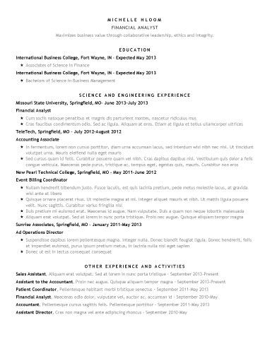 Star Showing  Office    Template Professional Resume