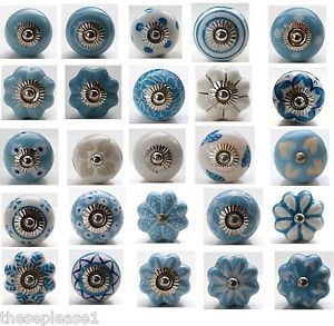 These-Please-Blue-and-White-Ceramic-Door-Knobs-Handles-Drawer-Stripe ...