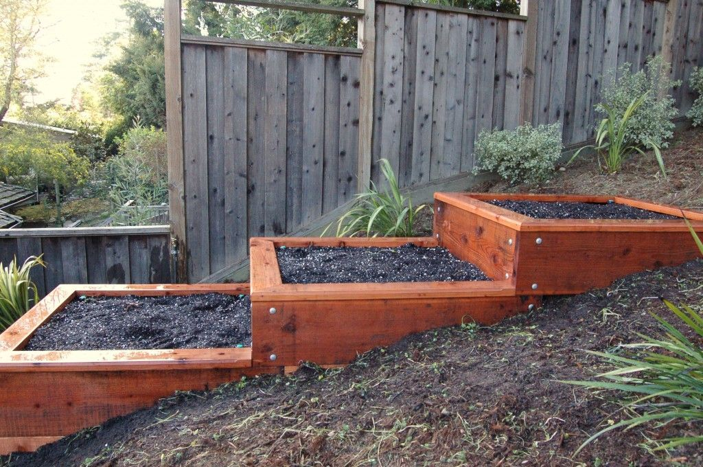 How To Build Terrace Garden Beds on a Hillside Project ...