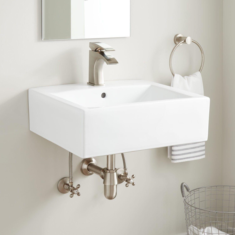 Eriksson Rectangular Porcelain Wall Mount Sink