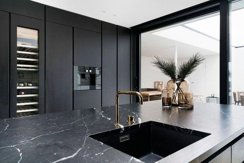 رخام اسود انواع الرخام رخام مستورد اسود اسباني احواض رخام Luxury Kitchen Design Modern Kitchen Design Kitchen Marble