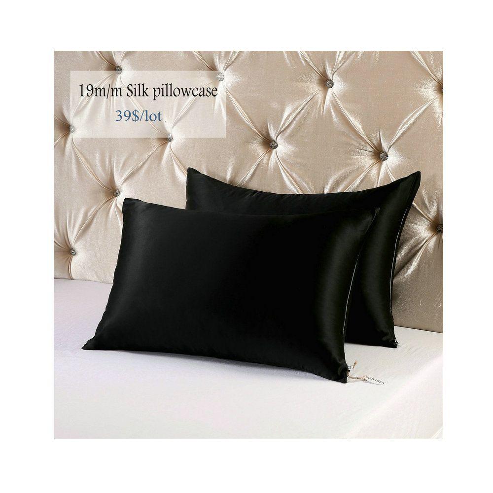 Silk Vs Satin Pillowcase Pinesasilk On Silk Pillowcase  Pinterest